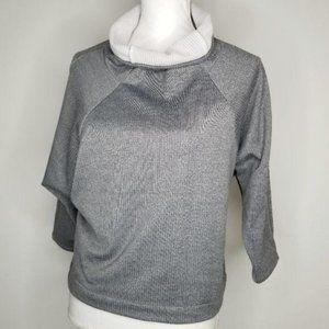 Zella Gray Oversize Sweater Youth 14/16, Womens XS